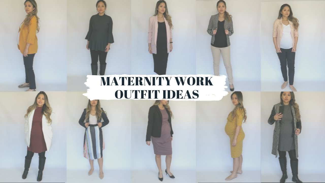 [VIDEO] - Maternity WORK Outfit Ideas | Pregnancy Lookbook 7