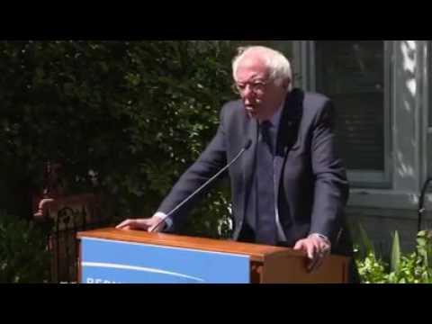 Bernie Sanders Making A Few Things Clear