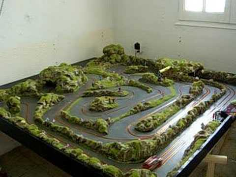 Pista madera slot scalextric youtube for Decoracion circuitos slot