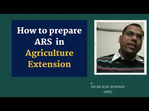 ARS preparation tips for Agri. Extension by Mr.Rajesh Bishnoi,Scientist at IISWC,Dehradun.