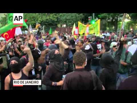 Raw: Anti-World Cup Protests in Brazil