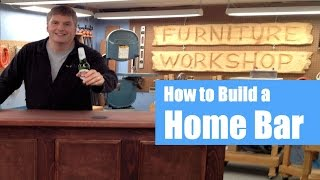 Build A Home Bar | Woodworking Project Preview