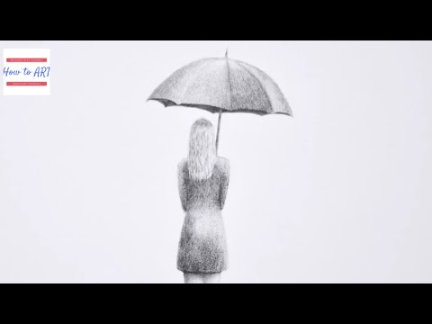 How to Draw 3D Woman With Umbrella |Ilustionr Art