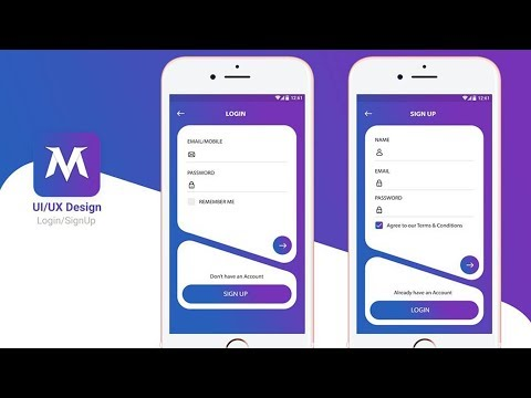 Awesome LogIn/SignIn & SignUp UI/UX design tutorial with