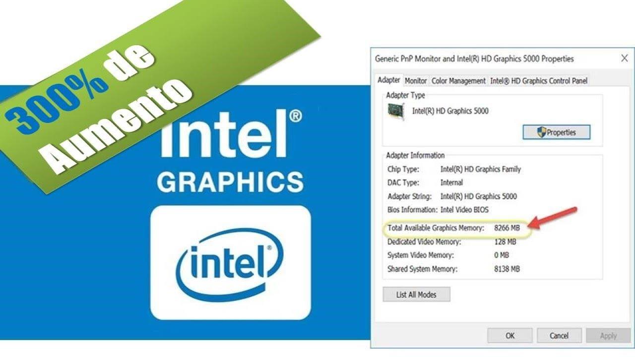 Aumentar A Memoria Dedicada Da Placa De Video Intel Hd Graphics