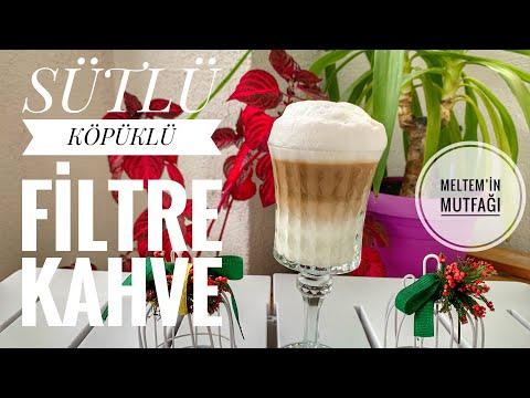 Evde Pratik SÜTLÜ KÖPÜKLÜ FİLTRE KAHVE Tarifi☕ Makinesiz Kahve Yapımı
