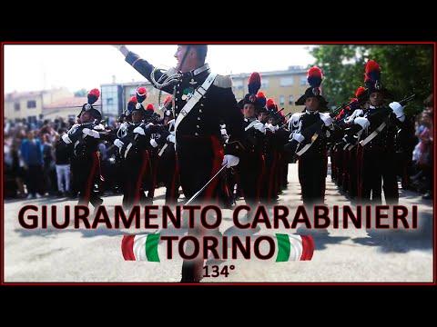 Parata finale di giuramento del 134° corso allievi carabinieri di Torino