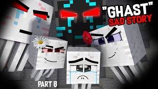 Monster School  Endermans Life Part 8 With GHASTs Life   BEST Minecraft Animation