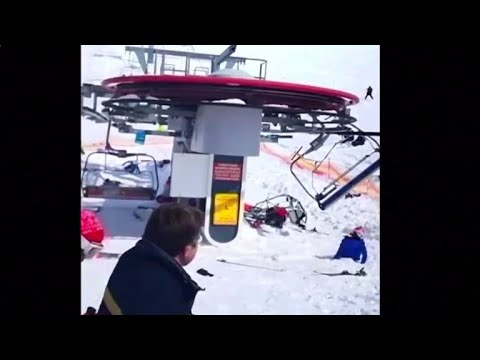 Ski lift malfunctions, tosses riders in the air, injuring 8 skiers