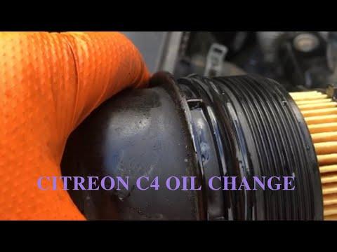 Citroen C4 Oil And Filter Change