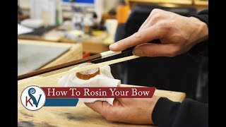 How To Rosin Your Bow/What Is Rosin? | KV