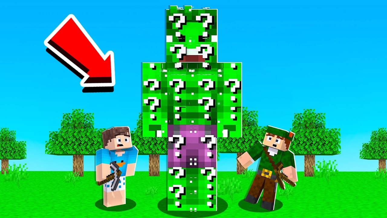 SOBREVIVA AO DESAFIO DO HULK DE LUCKY BLOCK NO MINECRAFT!!