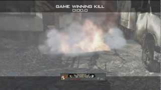 MW3: Amazing FINAL KILLCAM Throwing Knife Across Interchange GWK