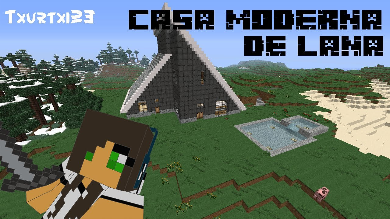 Minecraft casa moderna de lana links de descarga youtube for Casa moderna minecraft 0 10 4