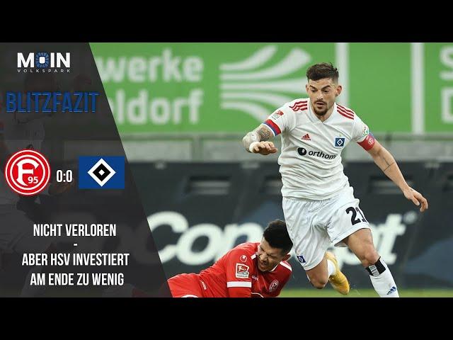 Scholles Blitzfazit zum Spiel | Düsseldorf 0:0 HSV / Saison 20/21 | #005