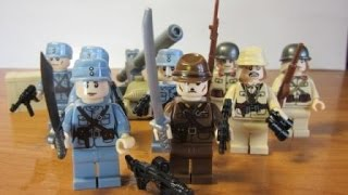 Лего военные. Лего японская армия.  Лего 2  мировая война.Lego Japanese army