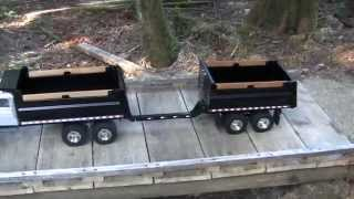 Gravel box and Pup trailer