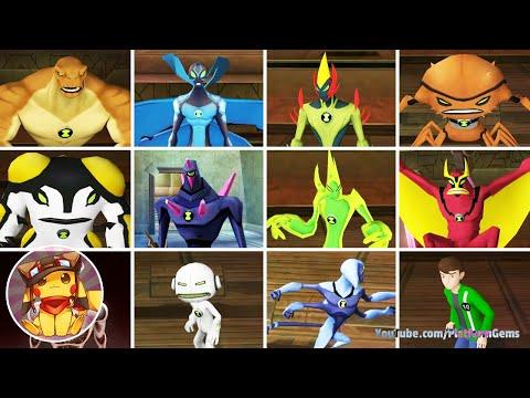 BEN 10 Alien Force Vilgax Attacks - All Alien Transformations [1080p]