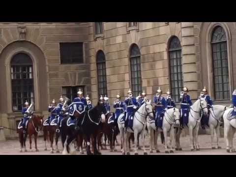 Stockholm Palace Changing of Guard (Life Guards Dragoons)