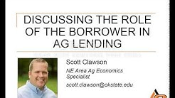 Discussing the Role of the Borrower in Ag Lending