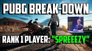 "PUBG Breakdown: Rank 1 Player ""Spreeezy"" - PLAYERUNKNOWN'S BATTLEGROUNDS TIPS AND TRICKS GUIDE"