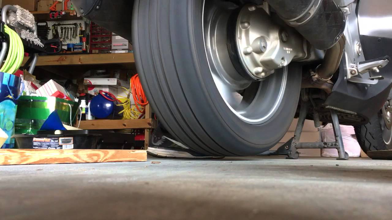 Balanced Car Tire On A Motorcycle At 165mph