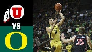 Utah vs #17 Oregon Highlights 2020 College Basketball
