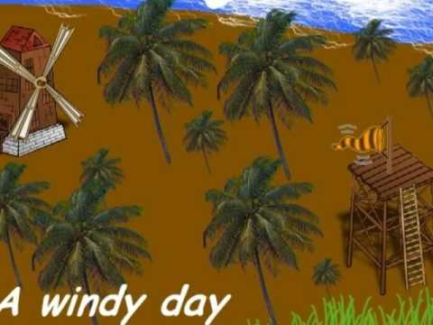 Weather scenes and symbols