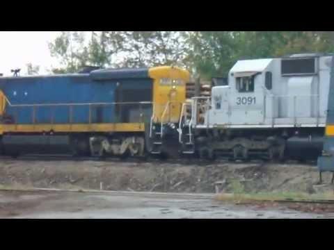 Central Maine & Quebec Railway lumber yard photos/videos Jackman, ME - 8/31/14