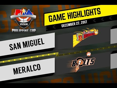 PBA Philippine Cup 2018 Highlights: SMB vs. Meralco Dec. 27, 2017