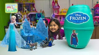Frozen Surprise Egg with Elsa Musical Ice Castle Toy! Elsa and Anna Toys