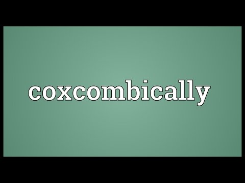 Header of coxcombically