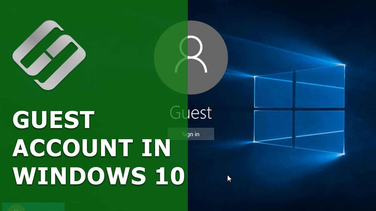 How to Add, Turn on or Delete a Visitor Account in Windows 10, 8 or 7 🤷⚙️🖥️ - YouTube