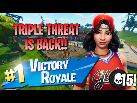 Triple Threat Is Back!! 15 Elims!! - Fortnite: Battle Royale Gameplay
