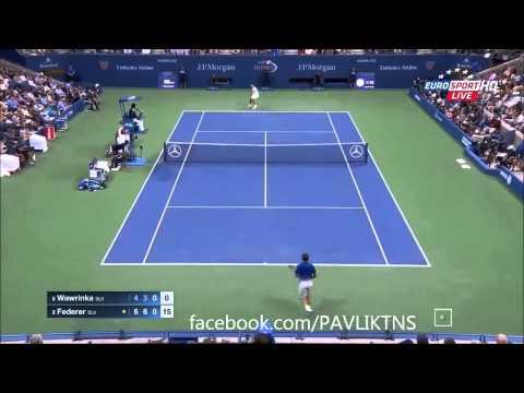 Roger Federer vs Stanislas Wawrinka   Full Highlights ᴴᴰ    US OPEN 2015