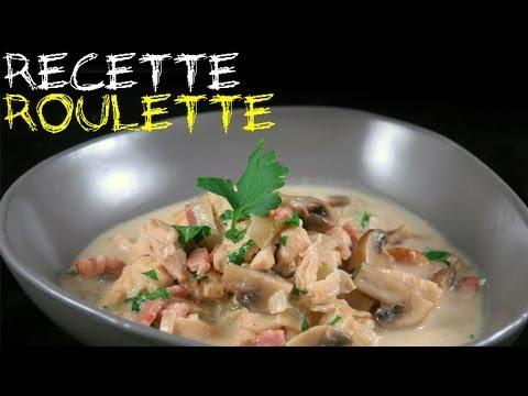 Recette : Poulet, endives, champignons et lardons