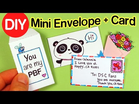 How to make mini Envelopes w/Cards + Paper Flower Bouquet -DIY