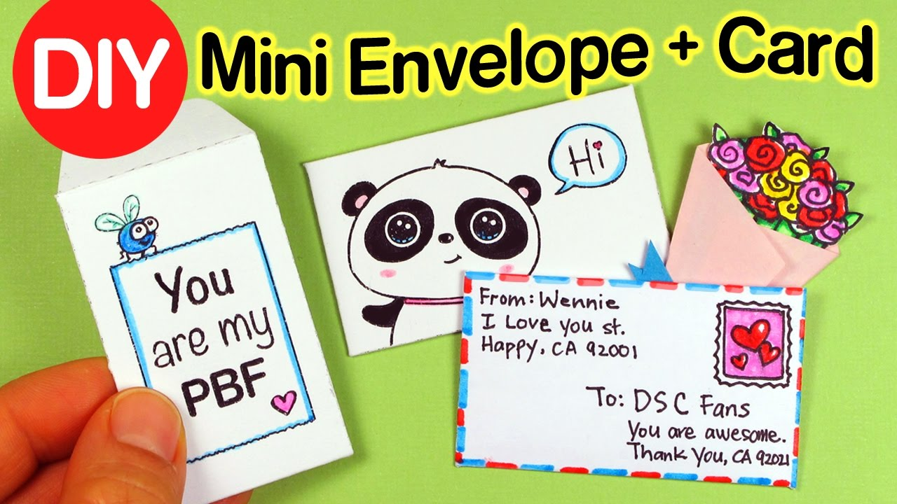 How to make mini Envelopes wCards