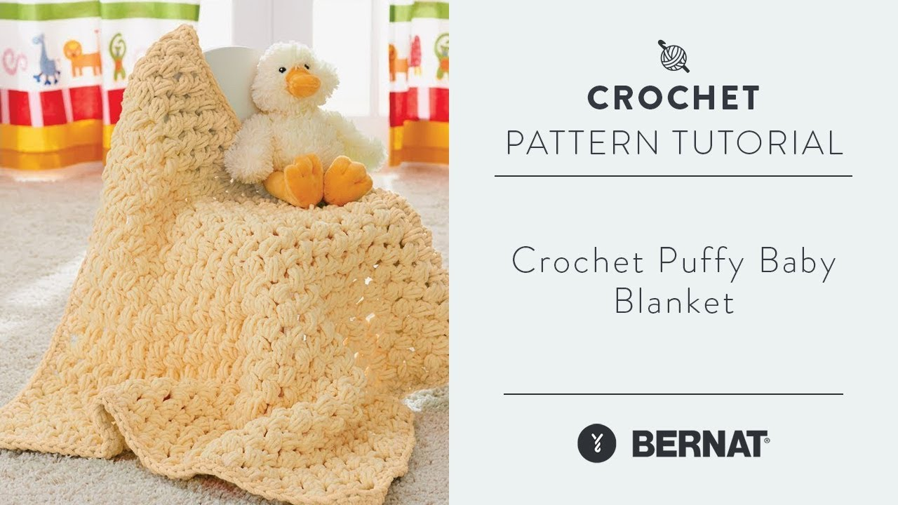 Crochet Puffy Baby Blanket Youtube