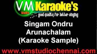 Singam Ondru  - Arunachalam (Karaoke Sample)