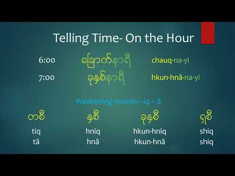 Myanmar Telling Time-Branch Course