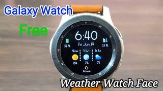 Galaxy Watch/Galaxy Watch Active 2 Weather Watch Face