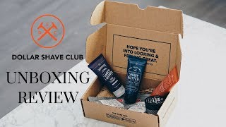 DOLLAR SHAVE CLUB | UNBOXING & REVIEW TRIAL KIT
