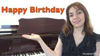 С днем рождения / Happy Birthday - Уроки фортепиано
