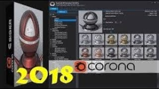 Install SIGERSHADERS Corona Material Presets Pro v 2. 0 2 2018 for 3ds Max 2013   2017+download