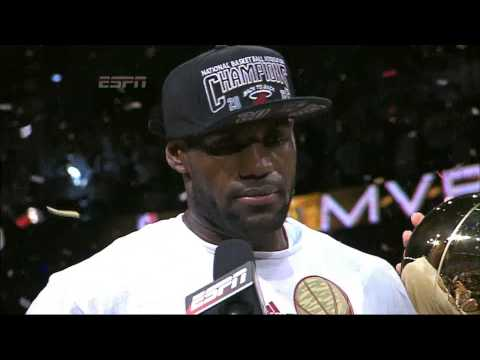 LeBron James Interview on Championship and Finals MVP (NBA Finals 2013)