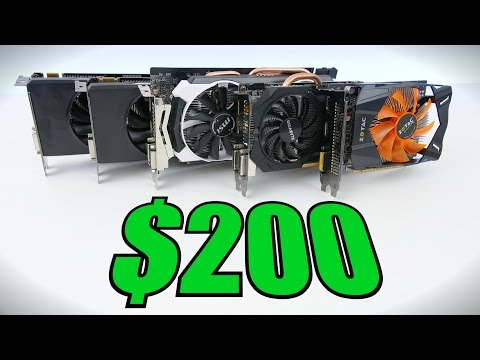 Top 5 Best Graphics Cards Under $200 - Early 2016