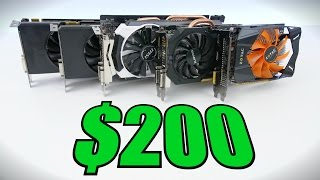 top 5 best graphics cards under 200 early 2016