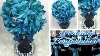 How To Create A Turquoise and Black Wedding Centerpiece / Glamorous Wedding Ideas
