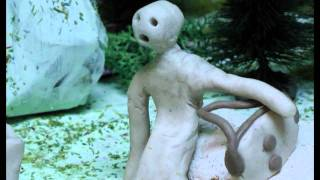 Premiere modell der animationsfilm '' die augen schließt,''